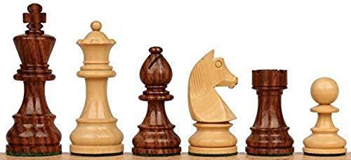 Metallic India Juego de 3 monedas de madera de ajedrez para hombres - Premium Luxury International Tournament Staunton Collector Chess
