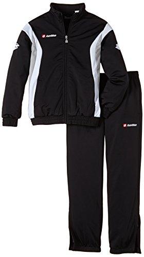 Lotto Sport Jungen Trainingsanzug Suit Stars Cuff JR, Blk/Wht/putty G, XL