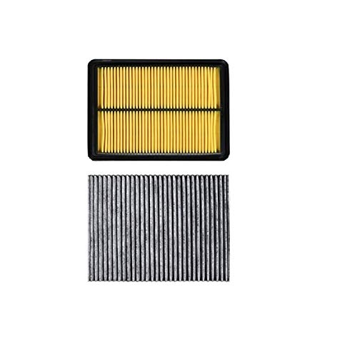Auto Luftfilterkabine Filter 2 Stück Fit für Nissan X-Trail Rogue T32 2013-2019 1.6L 2.0L 2.5L Modellfilter OEM 165464BA1A 272774BA0A (Color : 2 Pcs Filter Set)