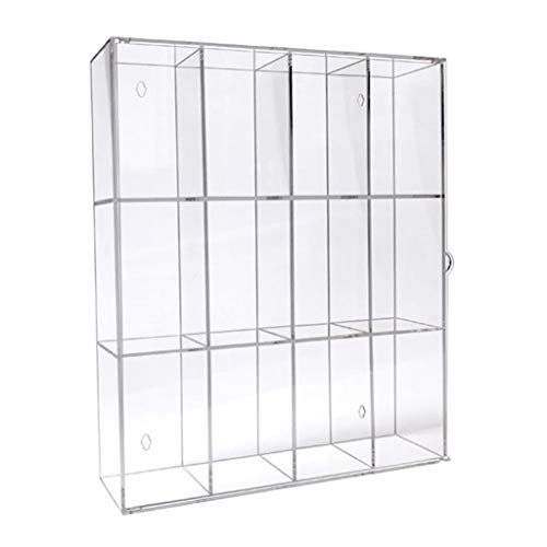 koolsoo 3-Compartments Acrylic Display Case Dolls Toys Collectibles Mini Action Figures Protective Boxes Stand Organizer 255x55x327mm