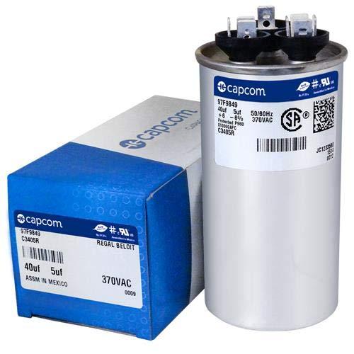 620763 - 40 + 5 uf MFD 370 Volt VAC - Intertherm Round Dual Run