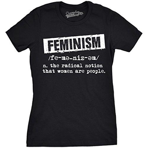 Crazy Dog Tshirts - Womens Feminist Definition Cool Empowerment T-Shirt For Ladies - Camiseta para Mujer