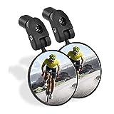 Sanctus Bike Mirror, 2pcs Bicycle Rear View Mirror, Safe Acrylic Convex Lens Adjustable Handlebar...