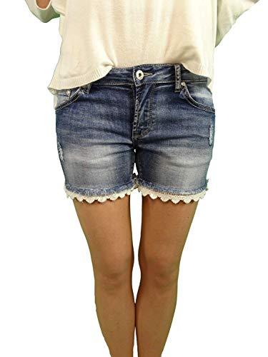 Place du Jour Boho Hippie jeans stretch shorts kant