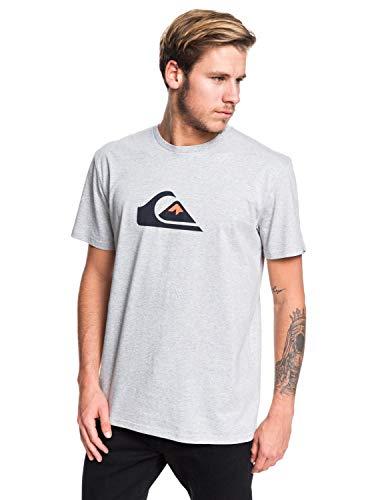 Quiksilver Comp-T-Shirt pour Homme, Light Grey Heather, FR : S (Taille Fabricant : S)