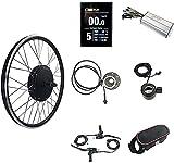 SKYWPOJU Kit de Conversión E-Bike 48V 1500W Kit de Cubo de conversión de Motor de Rueda Trasera 20'24' 26'28' 29'Kit de Bicicleta eléctrica 700C con Pantalla KT-LCD8S - Fácil de Montar