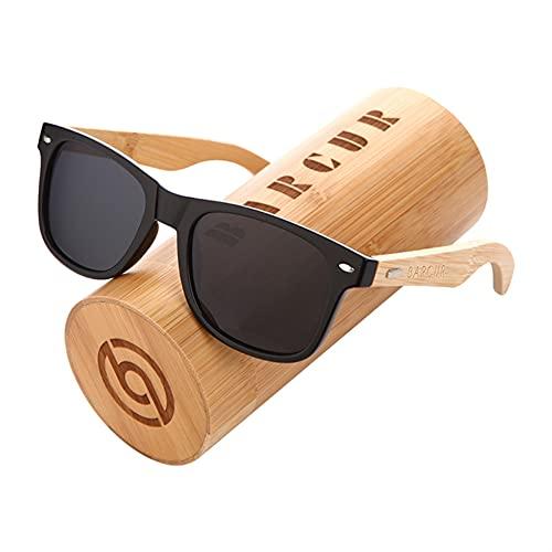 ZHATAOZH Gafas de Sol de bambú polarizadas Hombres Gafas de Sol de Madera Mujeres Marca Madera Original UV400 Oculos de Sol Masculino Gafas de Sol polarizadas Hombres Frescos Deportes para Mujer
