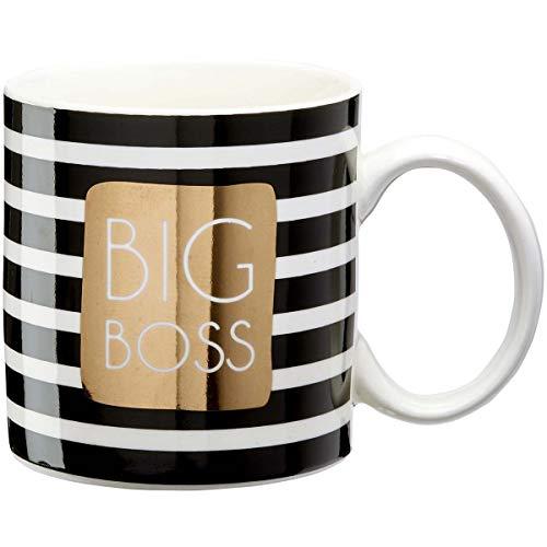 Dräger - Original Becher - Teetasse als Geschenk für Ihre Lieben - Kaffeetasse aus feinem Porzellan - 350 ml 8 cm Durchmesser x 8,5 cm Höhe Big Boss
