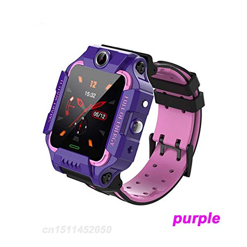 Alician Q19 Smart Watch Kinder Smartwatch Kamera Armband LBS Position Lacation Tracker SOS Anti-verlorene Baby Watch Voice Chat Wecker Lila