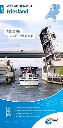 Waterkaart 01 Friesland 1:50 000 (ANWB waterkaart (1))