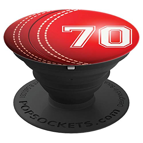Cricket #70 Cricket Player Trikot Nr. 70 Handy Griffe Gesche - PopSockets Ausziehbarer Sockel und Griff für Smartphones und Tablets