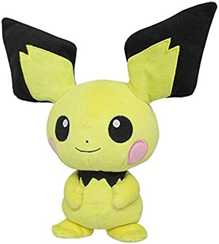 Sanei Pokemon All Star Collection Pichu Stuffed Plush Toy, 8.5 by Sanei