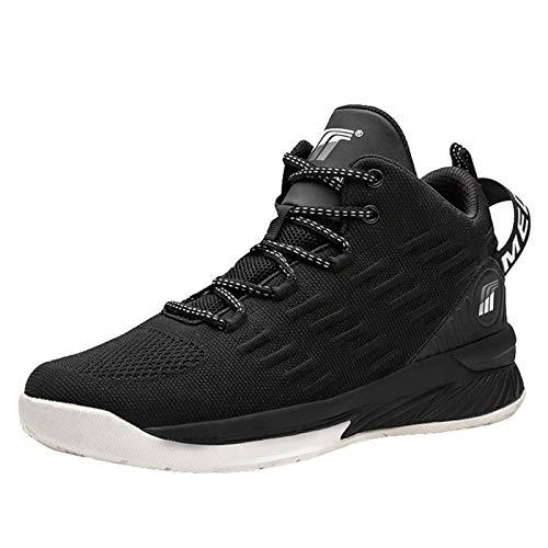 Zapatillas De Baloncesto Unisex Ligero Ligero Transpirable Correr Botas Para Caminar Sin Deslizamiento Adolescentes Zapatillas Informales,Blanco,43EU