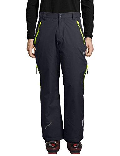 Ultrasport Herren Amud Ski- und Snowboard-Funktionshose, dunkelgrau/neon gelb, XL