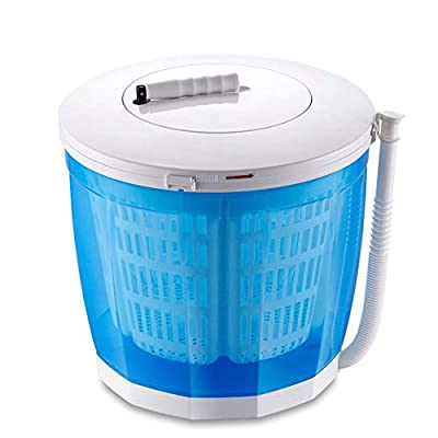 Uhruolo Portable Washing Machine Camping,Manual Mini Washing Machine With Automatic Drain Washing Machines 2.5Kg(No Power Required)