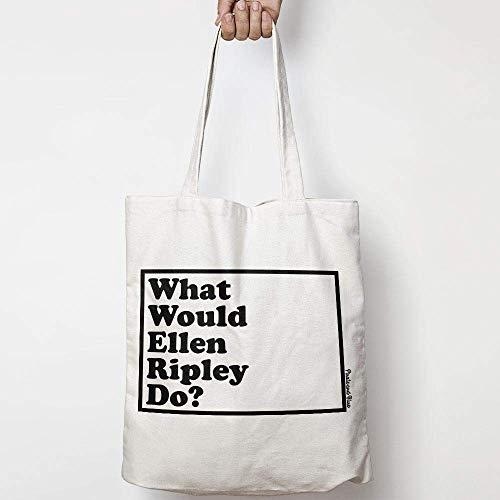WHAT WOULD ELLEN RIPLEY DO? WWYD leinentasche aus natürlicher baumwolle WAHL VON ZWEI FARBEN ALIEN