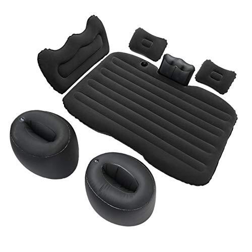 Car Inflatable Air Mattress Back Seat – Pump Kit Premium Quality- Vacation Camping-sleep Blow Up Pad Car Bed Back Seat Inflatable Air Mattress With 2 Air Pillows Car SUV Universal Fit