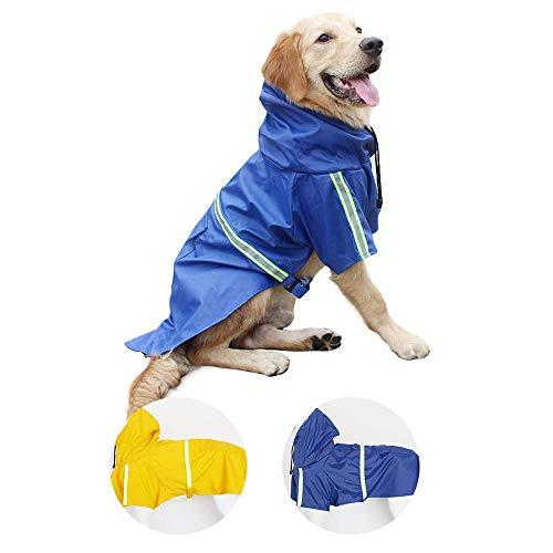 HBHJG Impermeable para Mascotas, Impermeable para Perros con Sudadera con Capucha extraíble,...