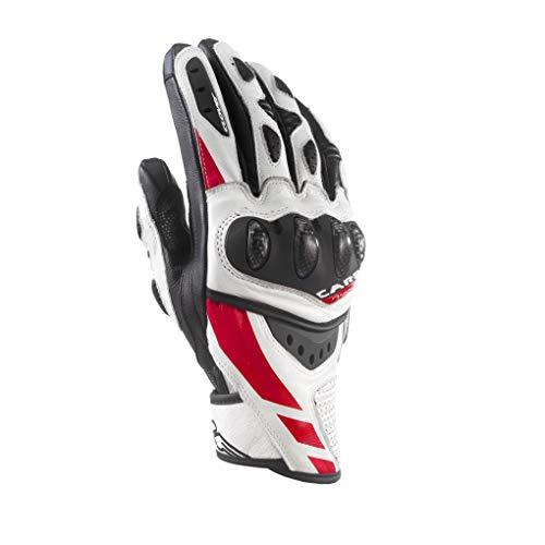 Clover rsc-3 Gant sport cuir courte, blanc/rouge, taille s