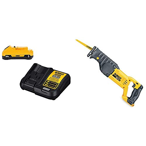 DEWALT DCS380B 20-Volt MAX Li-Ion Reciprocating Saw (Tool Only) with DCB230C 20V Battery Pack