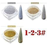 Janly Liquidación de uñas espejo harina transparente camaleón polvo fuegos artificiales polen galvanoplastia, para las mujeres del hogar arte de uñas