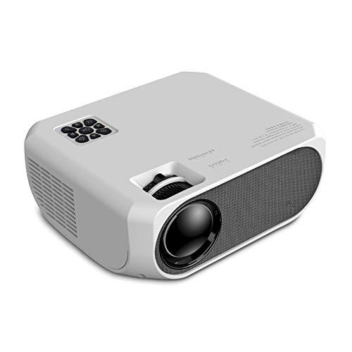 5500 lúmenes con 50.000 horas de larga duración LED proyector de cine en casa portátil 1080P soportado, compatible con PS4, PC a través de HDMI, VGA, TF, AV y USB negro (blanco)