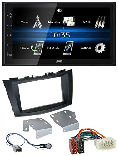 caraudio24 JVC KW-M24BT 2DIN Bluetooth MP3 AUX USB Autoradio für Suzuki Swift (ab 2010)