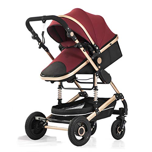 Lowest Prices! Lcb Baby Carriage Stroller, can sit Reclining Folding Shock Absorber Stroller, high L...