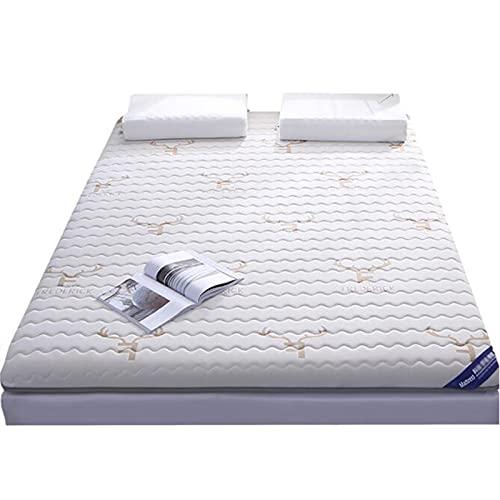 FDesign Colchón de futón acolchado grueso de estilo japonés, 6 cm de grosor Tatami para el suelo, alfombrilla de tatami, rollo de cama, colchón plegable enrollable, 90 x 190 cm