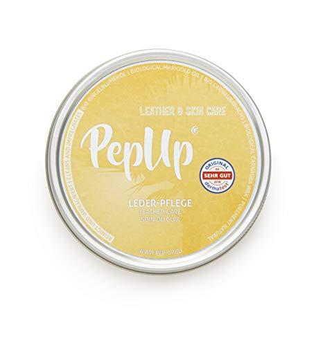 Pep-Up Lederpflege mit Bio Ringelblumenöl und Bio Carnauba Wachs Dermatest Zertifiziert 100g
