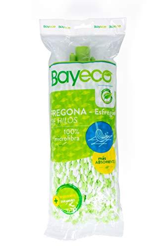 Bayeco Fregona de Hilos Microfibra Bicolor, Verde, 125 Mililitros