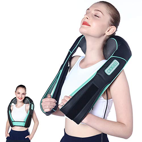 Atsuwell Shiatsu Neck and Shoulder Massager with Heat Hands Free Belt Deep Kneading Massagers for...