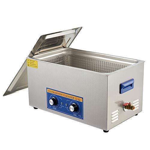 CO-Z 22L Pulitore ad Ultrasuoni in Acciaio Inox con Riscaldatore e Timer Lavatrice ad Ultrasuoni Industriale per Gioielli, Occhiali, Orologi, Lenti per Uso Domestico Laboratorio