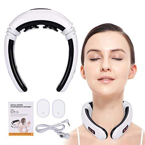 WETERS Eléctrica masajeador Cuello, Cuello tracción Cervical Cuello Terapia de Alivio del Dolor estimulador Tratamiento de acupuntura, Wireless eléctrica Impulso de Calentamiento Massager del Cuello
