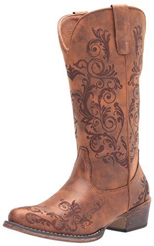 Roper womens Western Boot, Tan, 8.5 US
