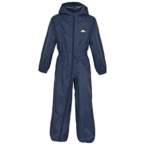 Trespass Kinder Button Regenanzug Button, Blau (Bleu foncé), 9-10 Jahre