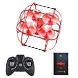 Fcoreey Mini Drone for Kids Beginners, RC Drone Four-axis Dual-mode Flying Ball - Ground and Flying Modes, Mini Aircraft Quadcopter with Remote Controller for Boys Girls Gifts Toys Indoor Outdoor