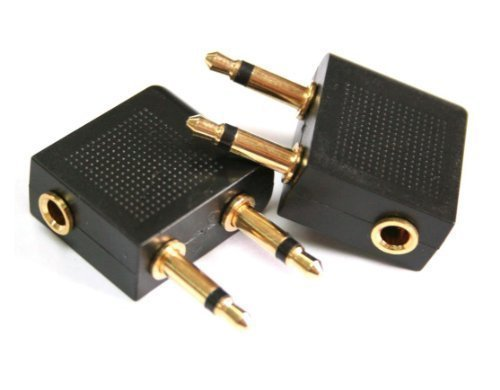 N&nkiwi 2 x Premium Gold Plated Airplane Flight Adapters Converters for...