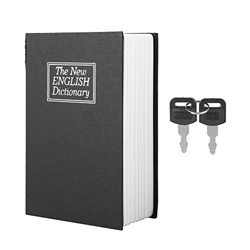 Aiggend Book Safe Storage Box, Creative Mini Simulation English Dictionary Collection Storage Mini Storage Box Caja de Seguro