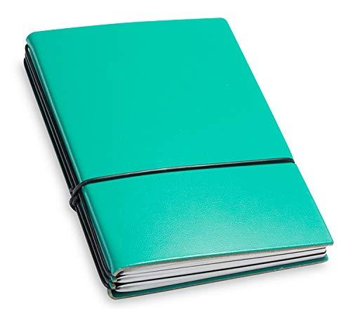 X17- A6 3er Notizbuch Leder-Fasermaterial Türkisgrün mit Wochenkalender 2020, Made in Germany, beschichtetes Lederfasermaterial, 17 Jahre Garantie auf die Hülle!