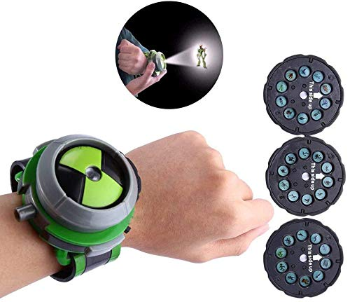 Eonthry Kids Projector Watch Toys for Ben 10 Alien Force and Mysterious Projection Action Figures Model Toy for Kids