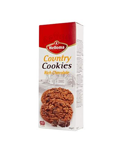 Hellema Country Cookies Rich Chocolate Keokjes – Koeken met Chocolade Stukjes – 150 gram doosje