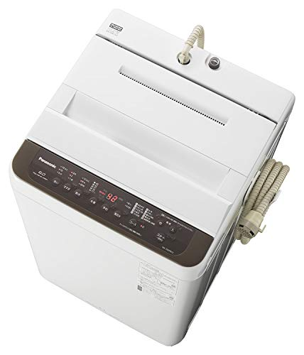 パナソニック 全自動洗濯機 洗濯 6kg つけおきコース搭載 バスポンプ内蔵 ブラウン NA-F60PB13-T