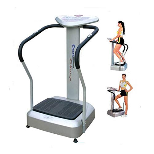 Health & Fitness_Hub Vibration Plate Exercise Machine Fitness Platform w/Loop Bands Home Training Equipment for Weight Loss and Toning