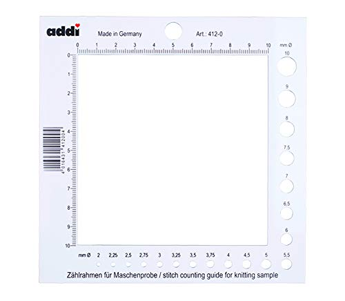 Addi Stitch Counting Frame and Needle Gauge
