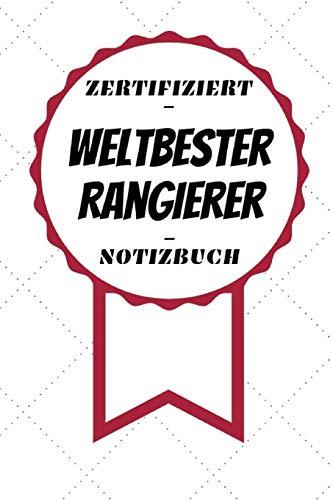 Notizbuch - Zertifiziert - Weltbester - Rangierer: Handlicher Planer | A5 Format | Geschenk im Beruf | Linierte Seiten