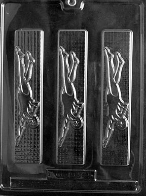 Cybrtrayd S014 Sports Chocolate Candy Mold, Female Swimmer