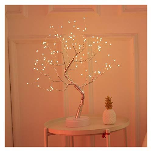 YSJSPKK Night Light LED Night Light Mini Christmas Tree Copper Wire Garland Lamp (Emitting Color : 108leds warm light)