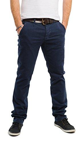 Banqert Herren Chinohose-n Chino-s Männer Lange Slim-fit Freizeithose-n Pant-s aus zertifizierter Baumwolle, Herren-Hose Stoffhose-n, Dunkel-Blau 38-32