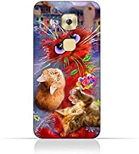 Huawei G9 Plus TPU Silicone Protective Case with Adorable Cute Cats Design